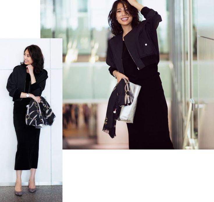 黑色夾克衫×黑色設置協和客機