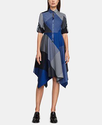43b8252dcd33 BCBGMAXAZRIA Cotton Handkerchief-Hem Shirtdress Women - BCBGMAXAZRIA -  Macy s