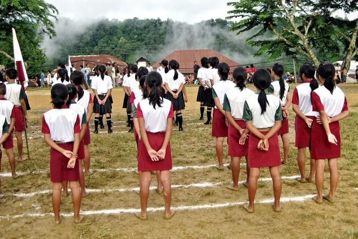 School uniforms of Hnahthial, India