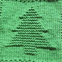 Christmas Tree Knit Dishcloth Pattern