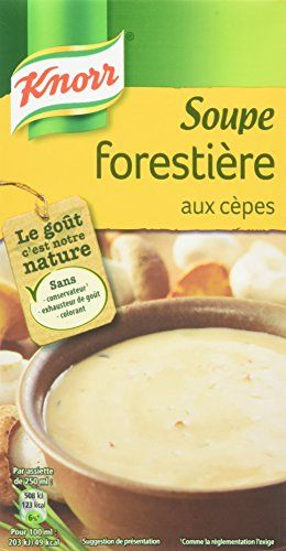 Knorr Soupe Forestière aux Cèpes 1 L – Lot de 4: 1l Sans colorant, sans exhausteur de goût, sans conservateur¹. ¹Comme la réglementation…