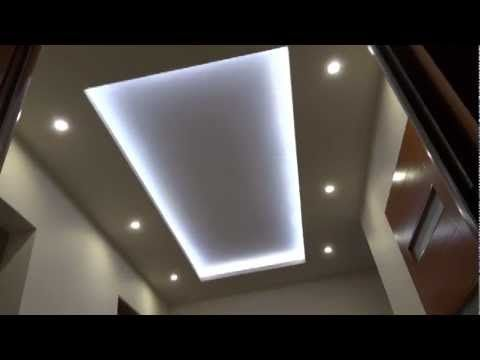 Sufit podwieszany taśma led. Ceiling lights, led strip