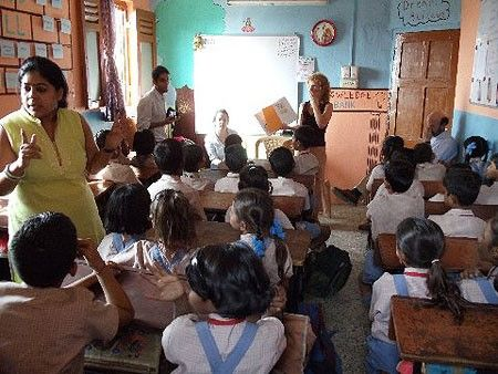 Another memory! Raj, The Bookstore Tiger in a school in India