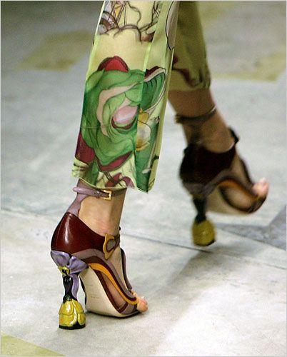 Miuccia Prada - amazing shoes AND pants.