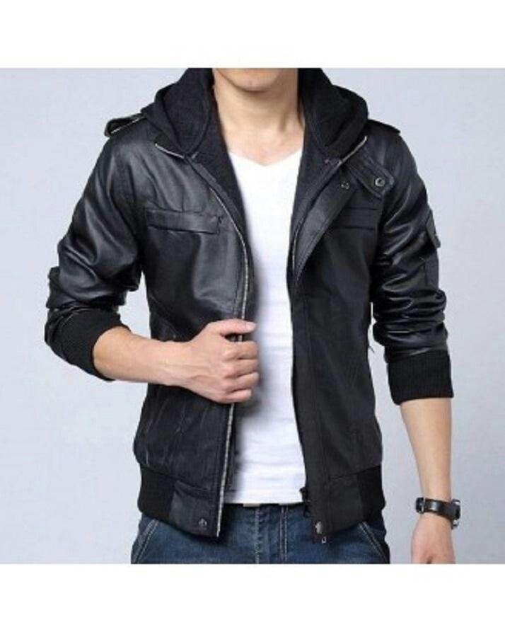 5d6731f79 Black Leather Jacket for Men Rs. 3,950 (1) Pakistan | Suits,Vests ...
