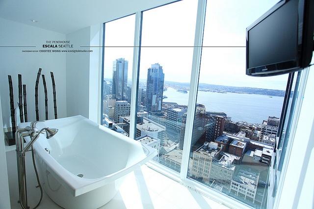 The Penthouse Escala Seattle White Stone Penthouses