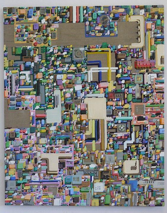 KC Tidemand. Duplex, oil on canvas, 2013 59x47in./150x120cm