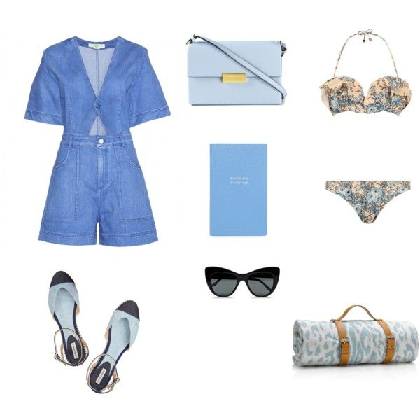 im blue by pollianidotcom on Polyvore featuring STELLA McCARTNEY, Zimmermann, Tabitha Simmons, Maslin & Co. and Smythson