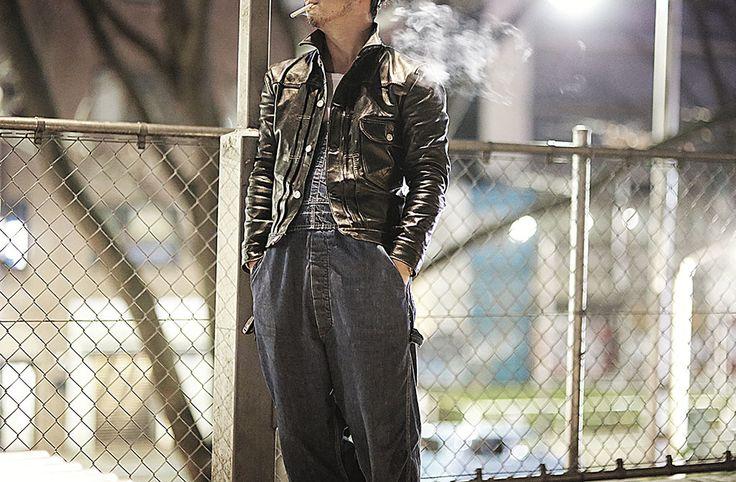 "1st type hosehide jacket ""Oklahoma City"" Black by HIGH LARGE LEATHERS"