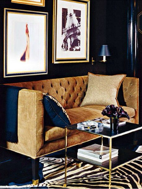 Best Navy And Gold Sitting Area Flickr Photo Sharing 400 x 300