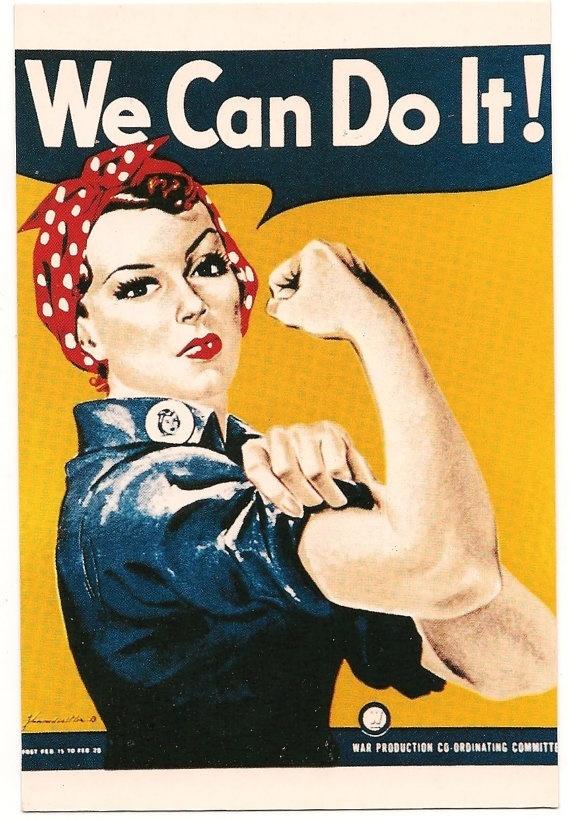 Vintage WWII Rosie the Riviter Poster