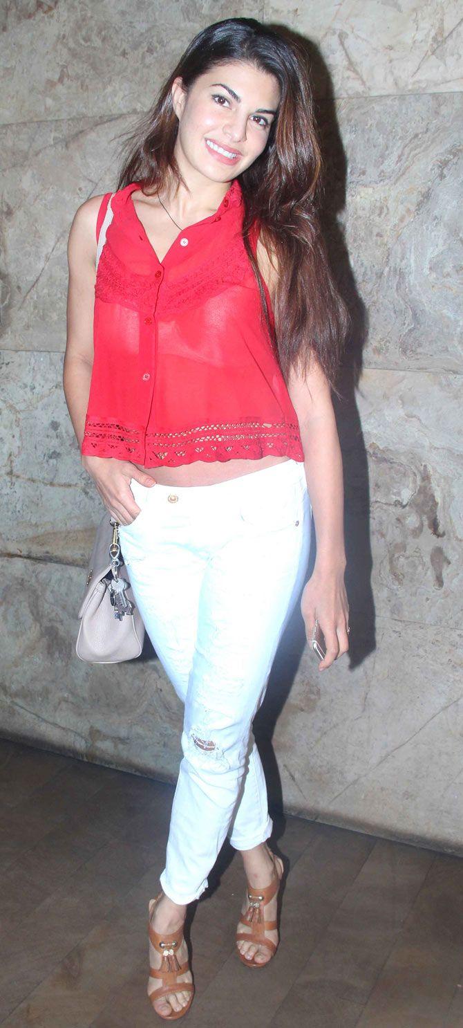 Jacqueline Fernandez at the screening of 'Hamari Adhuri Kahani'.