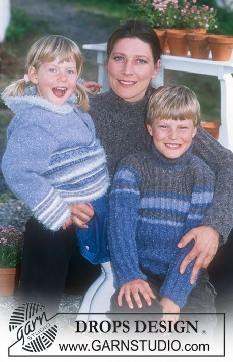 DROPS 70-3 - DROPS Ribbed pullover in Angora-Tweed (children's and men's sizes) - Free pattern by DROPS Design