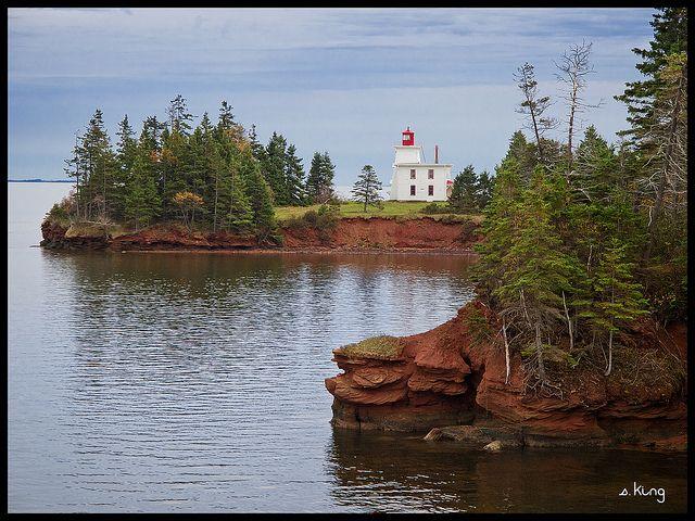 Rocky Point Lighthouse, Prince Edwards Island, Canada by S. King