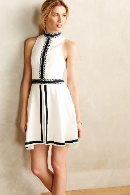 """Imogen Ribboned Dress at Anthropologie. It's $550 and almost sold out, so a """"great dress"""" vice an """"objet de desir."""""""