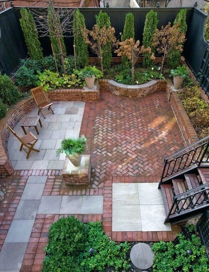 Paving Inspiring Laying Red Brick Patio In Herringbone Pattern Pavers With Cast Brick Patios Patio Backyard Patio