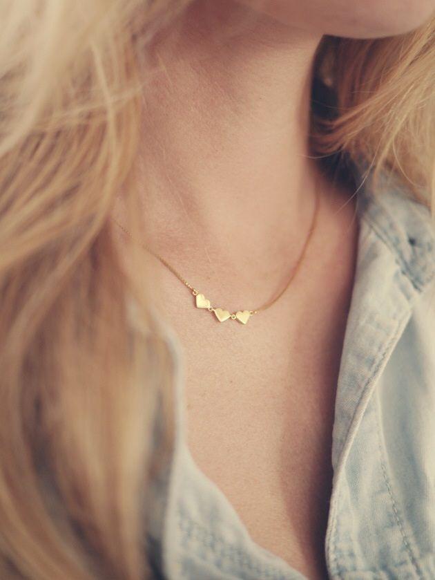 Camilla Pihl// three hearts necklace