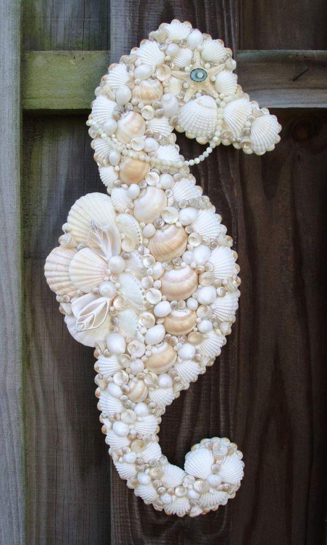 Kreativ mit Muscheln basteln - Ein Seepferd