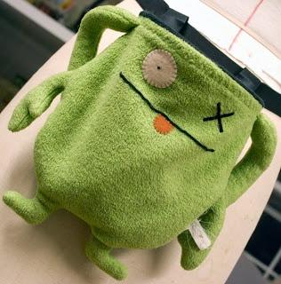Ugly Doll Chalk bag tutorial!