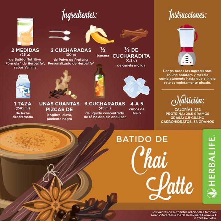 Rica Recete de Batido Chai Latte #productos #Herbalife …