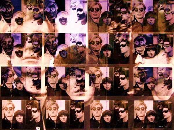 Title: Andy Mo And Lou Artist: Elizabeth McTaggart Medium: Digital Art - Fractal Art And Digital Collage #music #Velvet Underground #Lou Reed #Andy Warhol ~~~~~~~~~~~~~~~~~~~~~~~~~~~~~~~~~~~~~~~ Andy Warhol, Maureen Tucker and Lou Reed