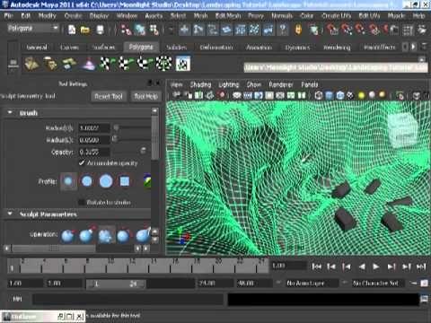 Part I Raymon Brugman - Maya Landscape Modeling 2 Hours