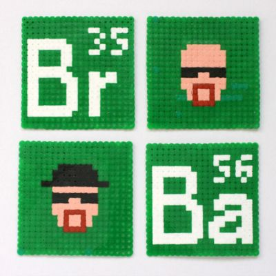 Quick Tip: Make an Awesome Set of Pixel Art Breaking Bad Coasters  By Rebecca Lowrey Boyd