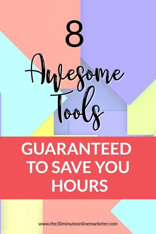 8 Awesome tools guaranteed to save you time on social media #socialmedia #productivity