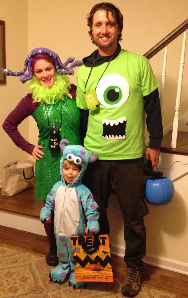 Halloween couple / family costume  Monsters inc costumes  Sully costume  Mike Wazowski costume  Celia costume