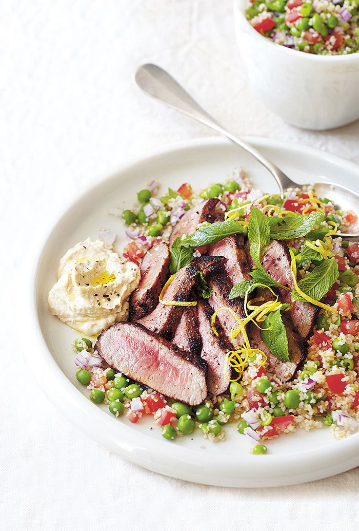Lighten up your palate with this tasty international inspired salad. Serve with thickly sliced lamb and plenty of hummus.