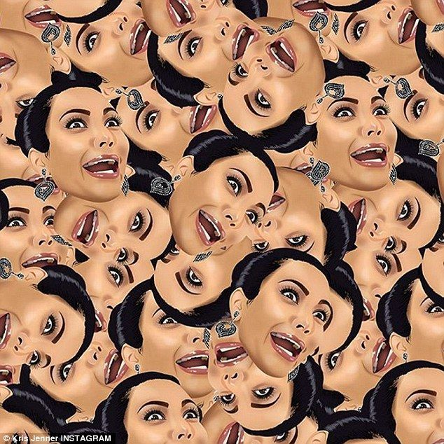 'My new screensaver!' Kim Kardashian has shared new Kimojis of North's side-eye, Kanye's pout... and THAT nude selfie