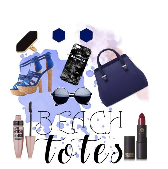 """Dreamer"" by teri-bear on Polyvore featuring Charlotte Russe, Maybelline, Lipstick Queen, Mr. Gugu & Miss Go, Jaeger, Wolf & Moon and beachtotes"