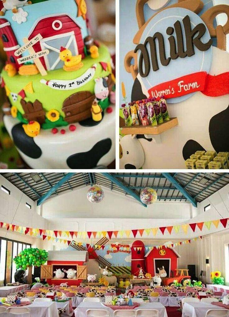 Tema fofo, colorido e alegre para festa infantil, é o tema fazendinha, cheio de animais objetos rústicos na decoração, confira as várias dicas aqui!