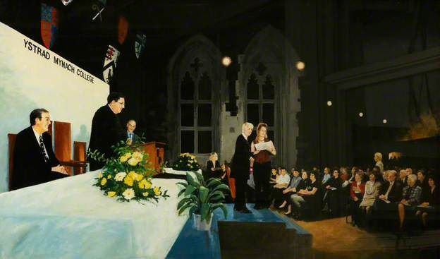 """Presentation of Awards by Enid Rowlands, Chairman of ELWa (Education and Learning Wales), 28th November 2002"". Brian Sweet. Collection: The College Ystrad Mynach."