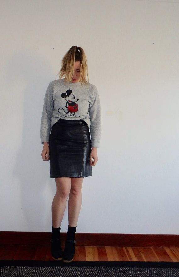 1000 Images About Vintage Leather Skirt On Pinterest