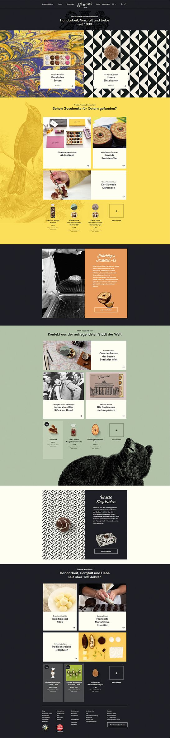 #ShopwareDesign #ShopwareTheme #ShopwareShop #eCommerce #eCommerceSoftware #eCommerceplatform #Onlineshop #Food #pralines #Template #traditional #handmade #highquality #madeinberlin #chocolate #manufactory #storytelling #sawade