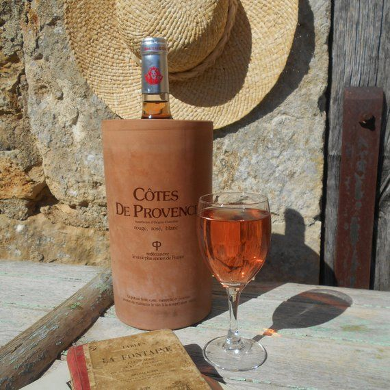 French Vintage Rustic Terracotta Cotes De Provence Wine Cooler Brique A Vin Wine Brick For Storing Wine A Wine Bottle Chilling White Wine Wine Connoisseur