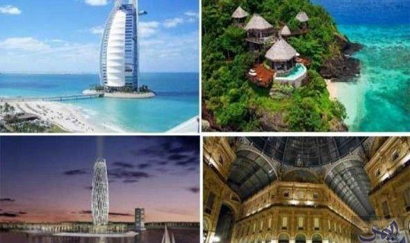 تعرف على أفخم و أروع 10 فنادق حول العالم Dubai Tower Eiffel Tower