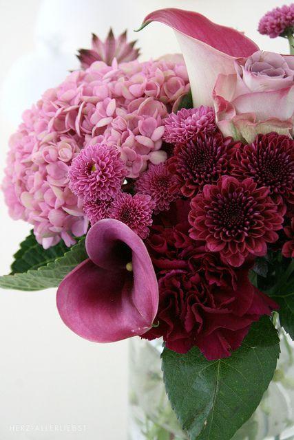 Pink & Burgundy Flowers