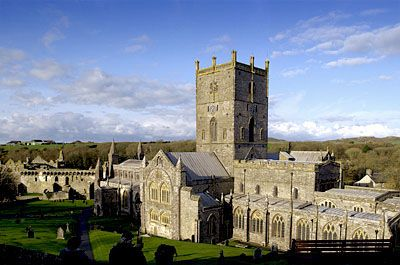 St Davids Cathedral Pembroke shire.  Magnificent church.Since the 6th century there has been a church on this site.