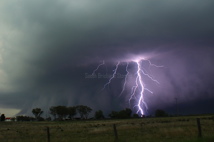 "PHOTO OF THE DAY: goes to Andy Barber, with South Brisbane Storms, who took this amazing lightning and shelf cloud photo near Oakley in Queensland, Australia about a week ago! WOW! Australia's storm season is just now getting ramped up!     Send us your photos to TVNphotos@gmail.com to be considered for the ""Photo of The Day!"" They must be YOUR photos and watermarks are okay!    www.tvnweather.com"