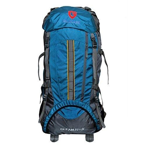 Gleam 2209 #Mountain Rucksack / Hiking / trekking bag / #Backpack 75 Ltrs Sky #Blue & Grey with Rain Cover