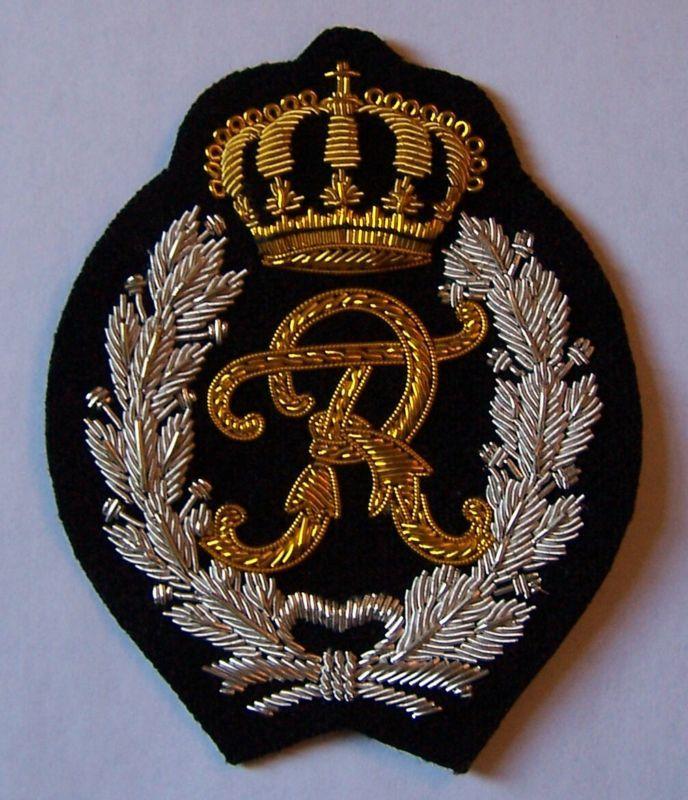 Royal Family COA Kaiser German Prussia King Monogram Cipher Letter Crest Patch