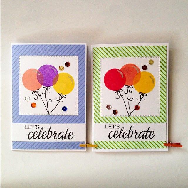 more birthday cards, more sparkly balloons. 紫色の風船で誕生日カード作ってと友達に言われ、このふたつを見せたら紫じゃない方を速攻選んでいた。何が好きかなんて見せてもらうまで分からないもん!だそう。#birthdaycard #handmadecards #winnieandwalter #手作りカード #カードメイキング