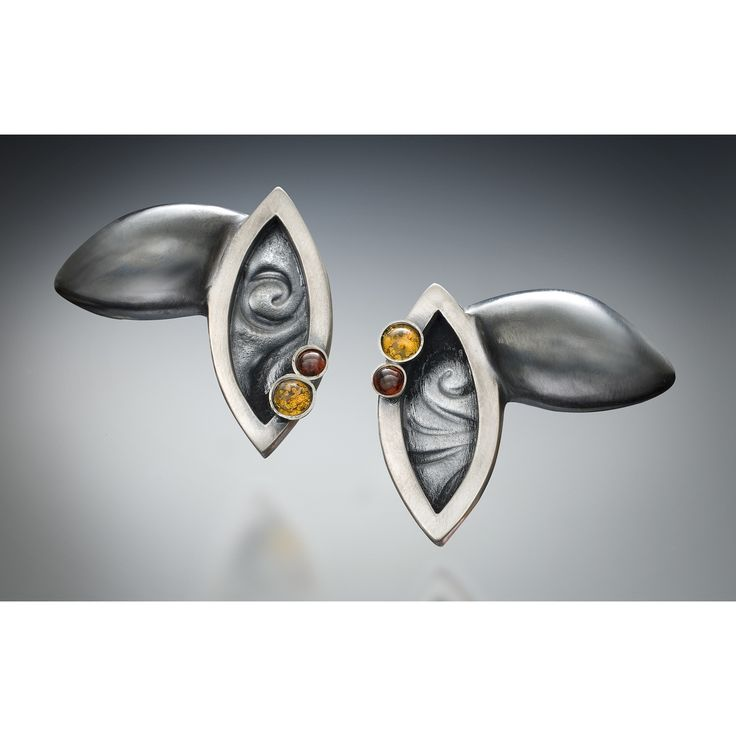 All NEW Harmony Double Silver, Garnet and Citrine Earrings