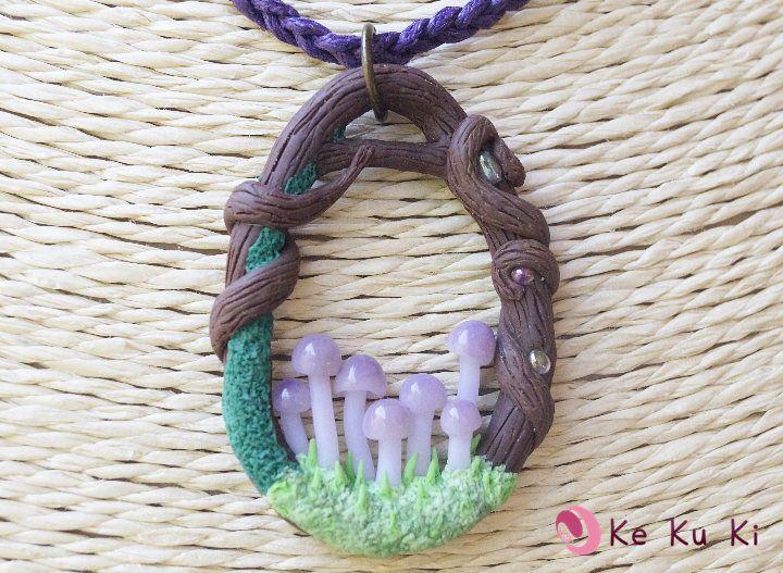 Colgante setas trocito de bosque mágico/ Mushroom Necklace de KekukiArtesania en Etsy https://www.etsy.com/es/listing/568343801/colgante-setas-trocito-de-bosque-magico