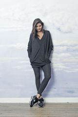 GRAY OVERSIZED TUNIC/ SWEATSHIRT  SAMPLE SALE ON http://milieubazaar.com