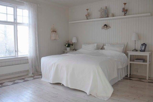 Soverom før og etter - fra hvitt og romantisk til røft og rustikt - Franciskas Vakre Verden