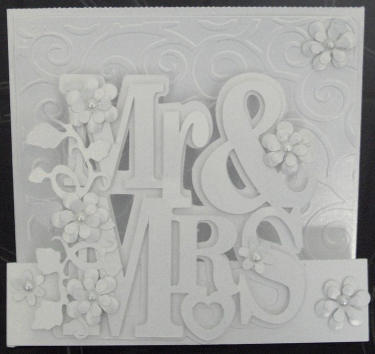 silhouette cameo projects | Wedding card using my silhouette Cameo 2nd card ever made using it by ...