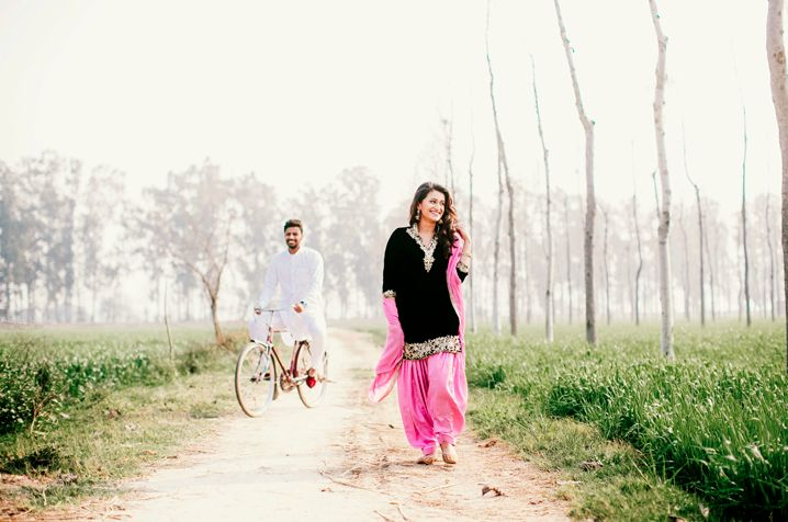 Engagement shoot in Punjab